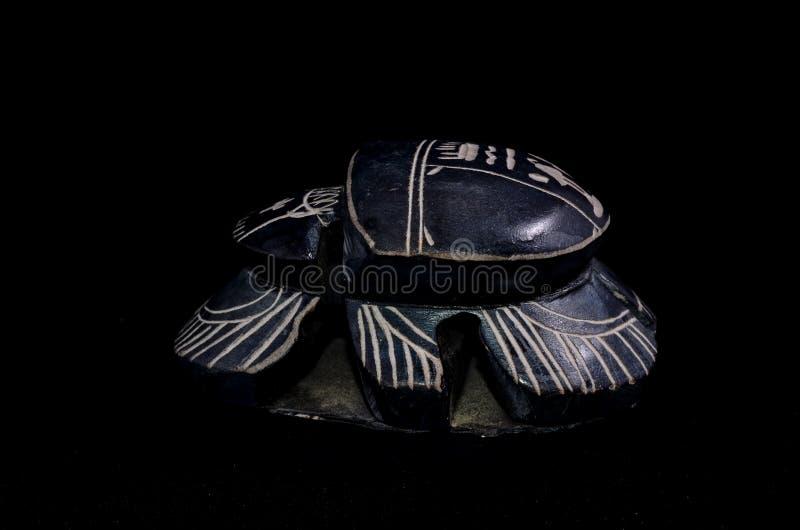 Rituell egyptisk skarabé för sten royaltyfria foton