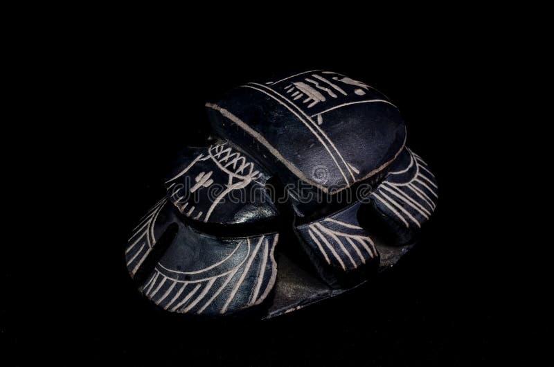 Rituell egyptisk skarabé för sten royaltyfria bilder