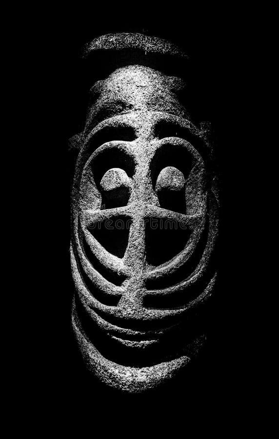 Rituell maskering från Mikronesien royaltyfria foton