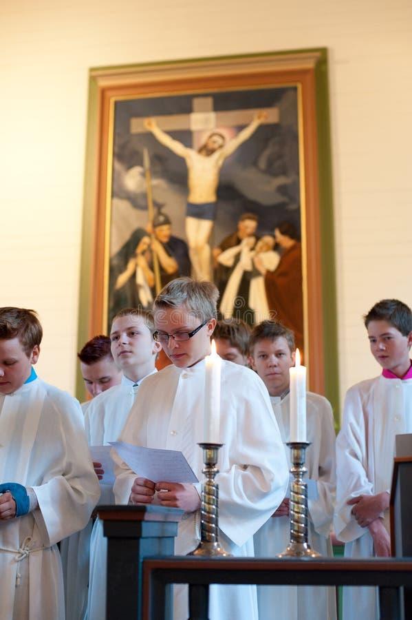 Ritus der Bestätigung an der lutherischen Kirche lizenzfreie stockfotos