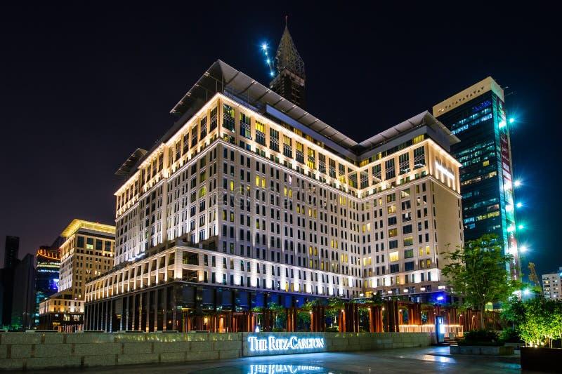 Ritz-Carlton hotel in DIFC, UAE stock photography