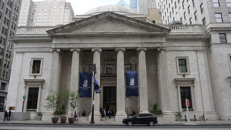 The Ritz Carlton Hotel in Philadelphia stock image