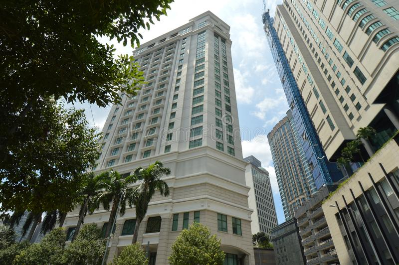 The Ritz-Carlton, Kuala Lumpur. DISCOVER THE RITZ-CARLTON, KUALA LUMPUR. FEATURING SPACIOUS ACCOMMODATIONS, A LAVISH SPA AND AWARD-WINNING CUISINE, THE LUXURY stock images