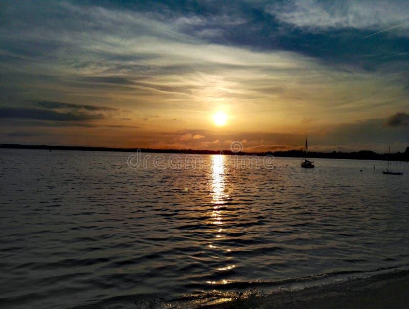 Ritz del ¼ del mà degli azzurri della Germania di tramonto fotografia stock