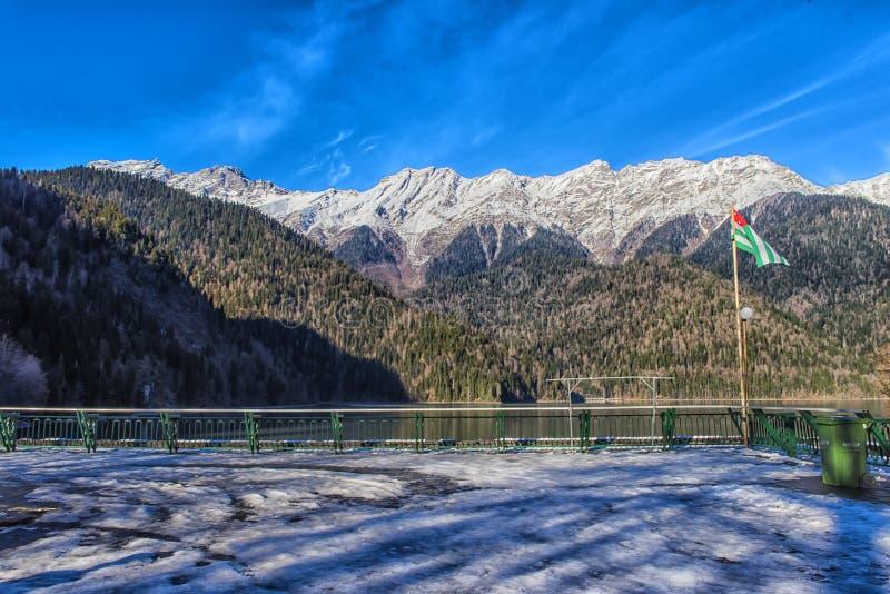 Ritz Lake in Abkhazia fotografia stock