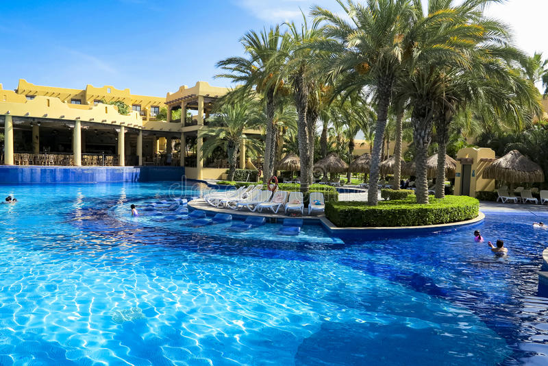 RIU Santa Fe Hotel bei Cabo San Lucas, Mexiko stockbild