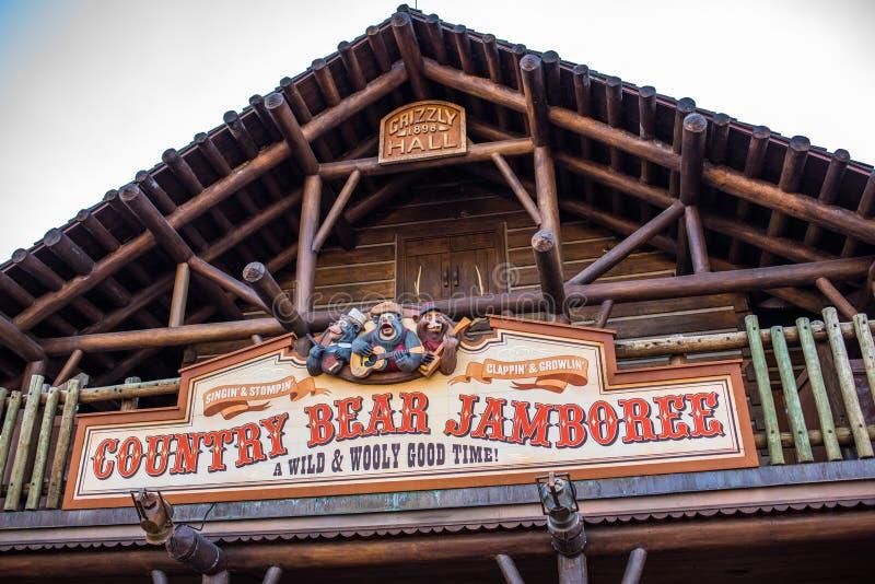 Riunione al regno magico, Walt Disney World dell'orso del paese fotografia stock