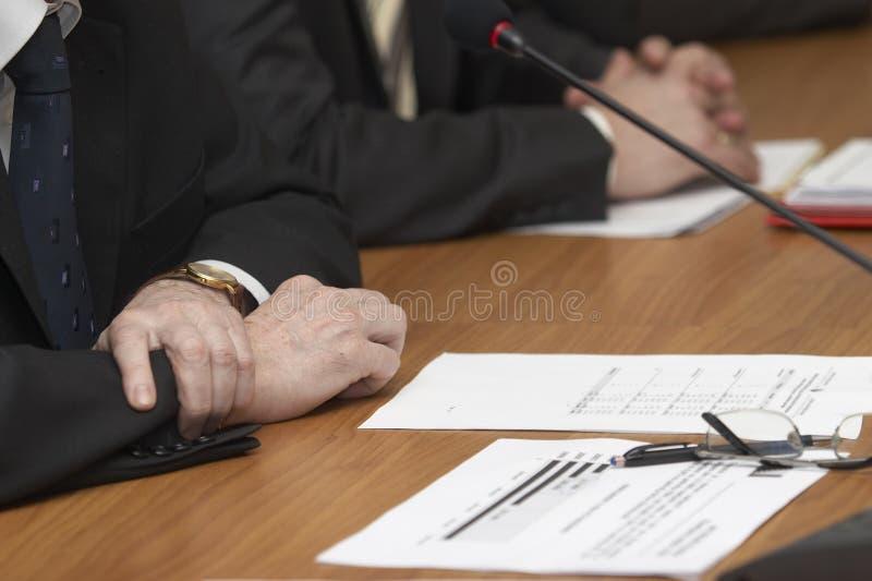 riunione dello scrittorio immagine stock libera da diritti