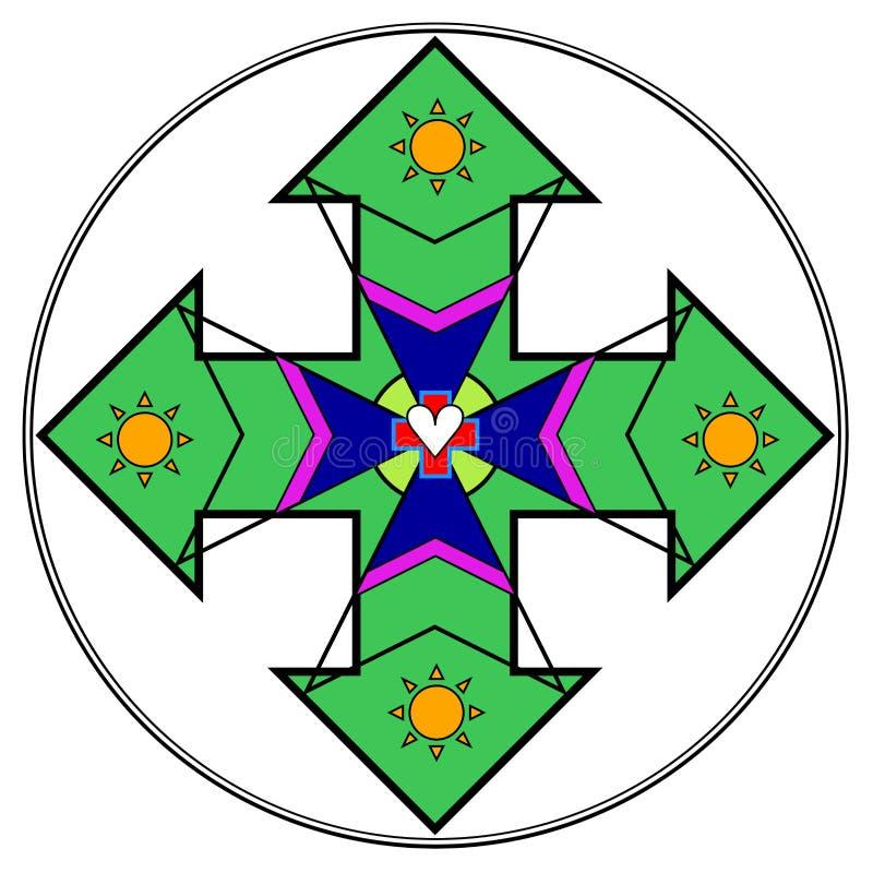 Riunione di positivismo per il logo di trattamento del cuore illustrazione di stock