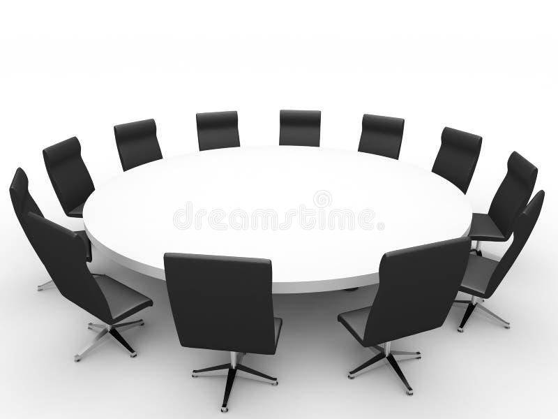 Riunione Sedie intorno alla tavola illustrazione vettoriale