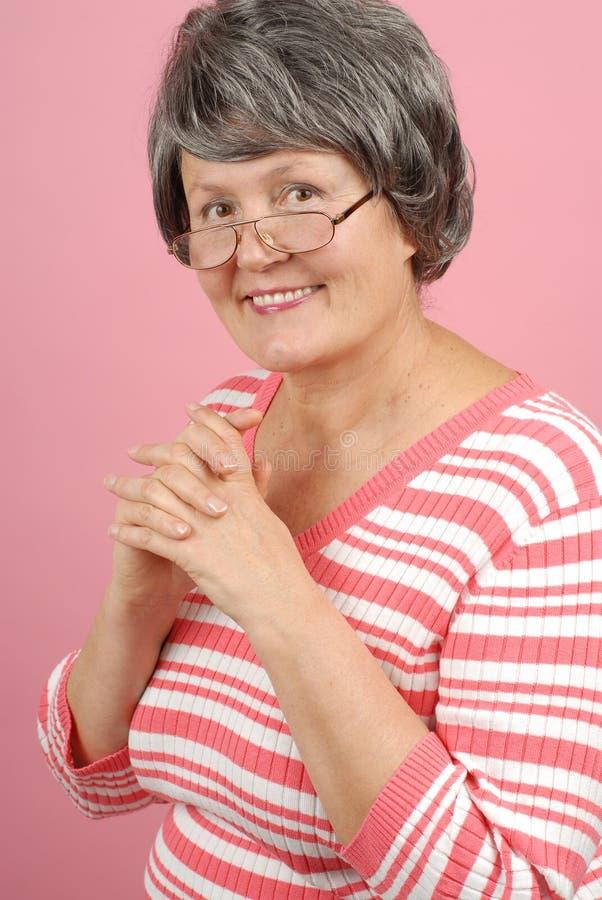 Riuscita donna più anziana fotografia stock