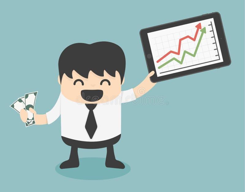 Riuscita gente di affari dal gioco delle azione illustrazione di stock