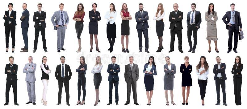Riuscita gente di affari isolata su fondo bianco fotografia stock libera da diritti