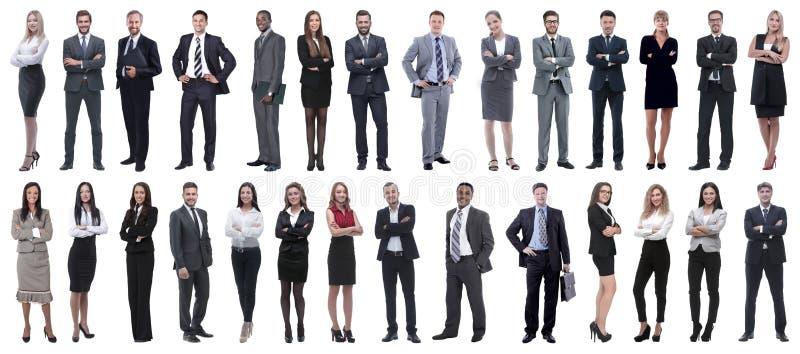Riuscita gente di affari isolata su fondo bianco immagini stock libere da diritti