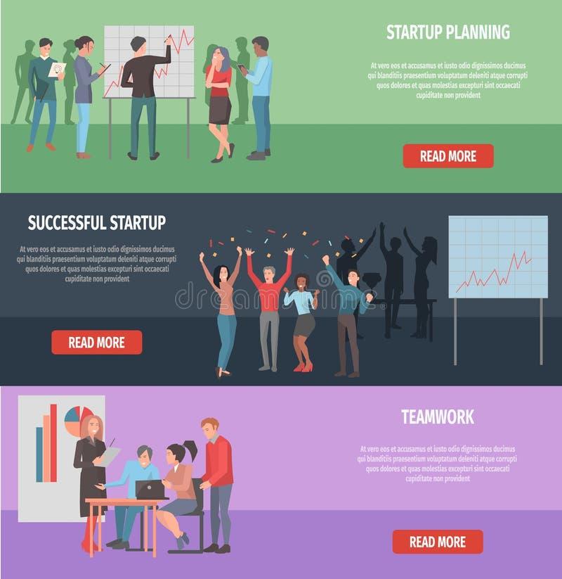 Riuscita illustrazione Startup della pagina di Internet royalty illustrazione gratis