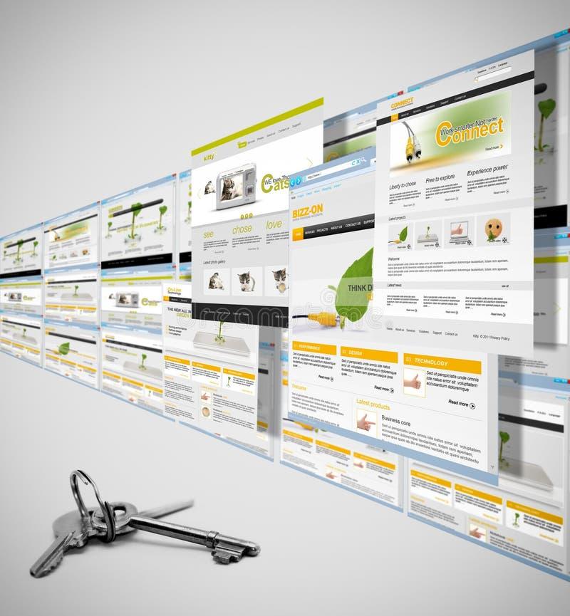 Riusciti Web site illustrazione vettoriale