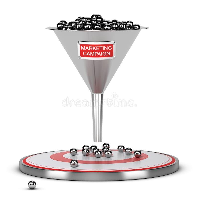 Riuscito concetto di massa della campagna di marketing illustrazione vettoriale
