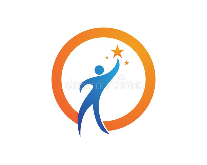 Download Riuscito logos della gente illustrazione vettoriale. Illustrazione di illustrazione - 117978772