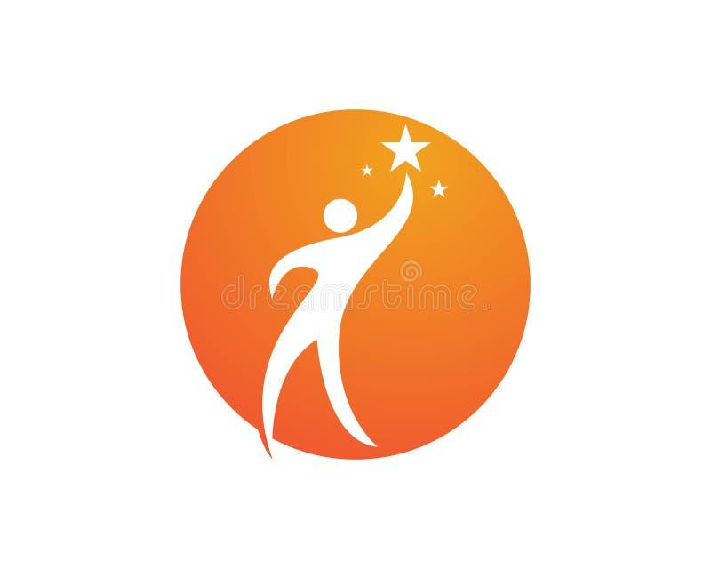 Download Riuscito logos della gente illustrazione vettoriale. Illustrazione di icona - 117978782