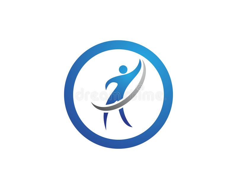 Download Riuscito logos della gente illustrazione vettoriale. Illustrazione di persona - 117979358