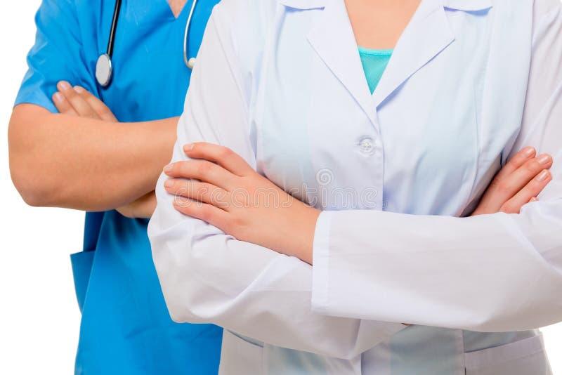 Riuscito medico sicuro sparato senza fronte fotografie stock libere da diritti