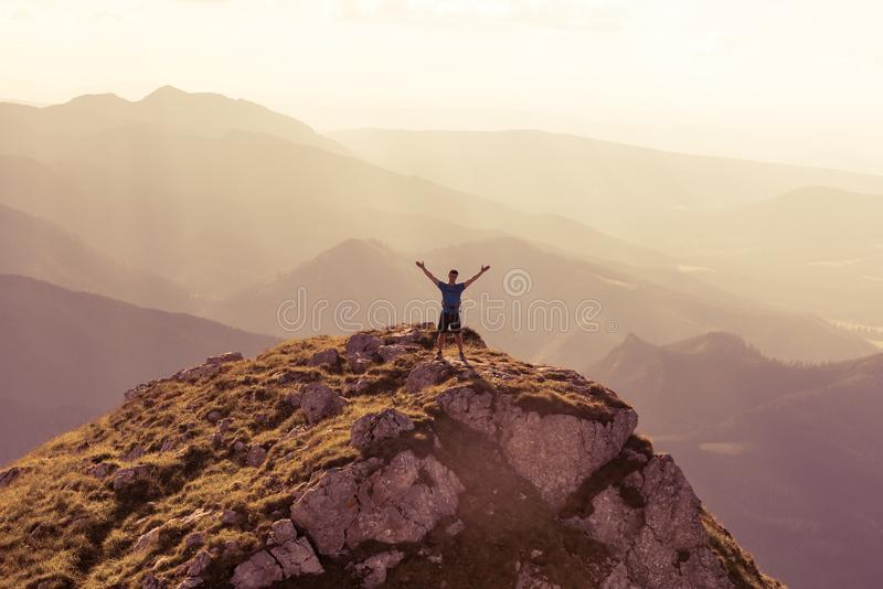 Riuscito sport della gente, motivazione, ispirazione immagini stock