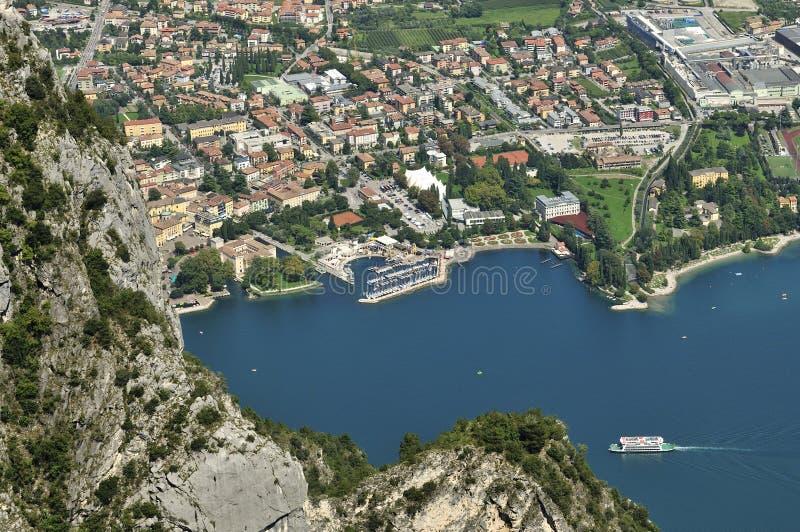 Riva del Garda. Town at lake Garda in Italy royalty free stock images