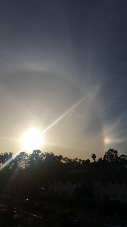 Riva dell'oceano California di alone di Sun immagine stock