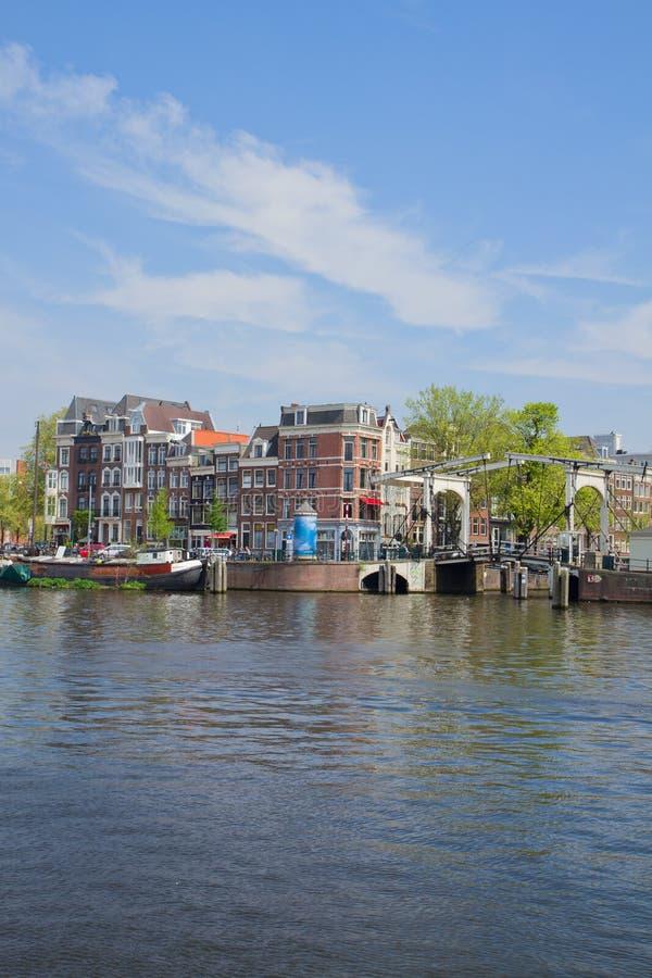 Riva di Amstel, Amsterdam, Olanda fotografia stock libera da diritti