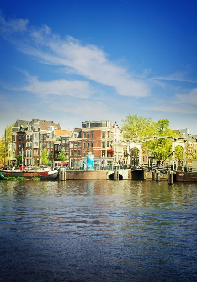 Riva di Amstel, Amsterdam, Olanda immagini stock