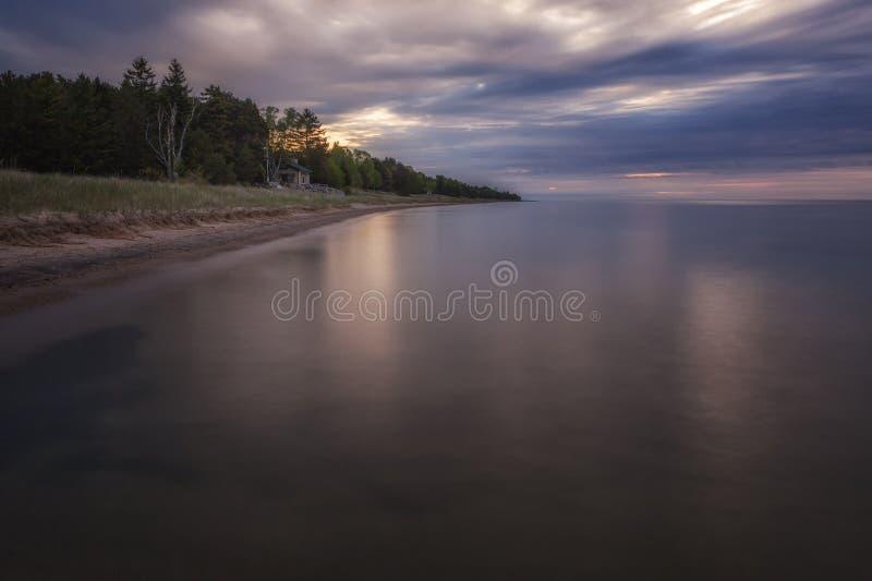 Riva di lago Michigan immagini stock