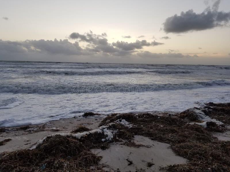 Riva di mare della costa dello spazio fotografia stock