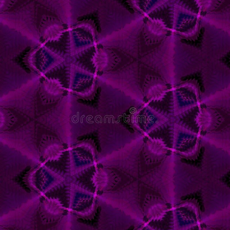 Riva-fractal purpere sextagonalspiegel royalty-vrije stock foto's