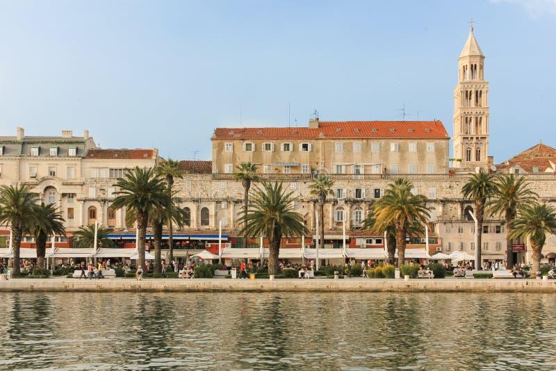 Riva promenad split croatia royaltyfri fotografi