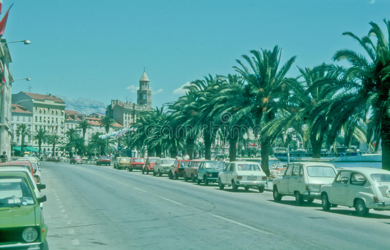 Riva in Split, Croatia royalty free stock images