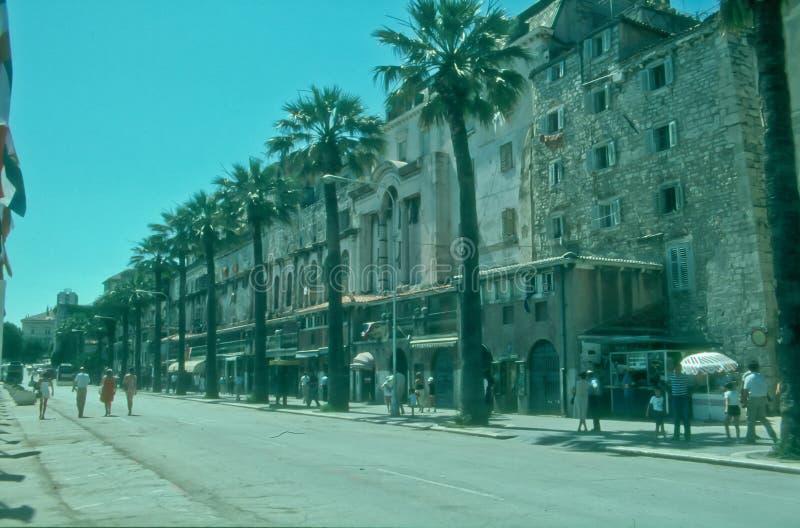 Riva in Split, Croatia stock photography