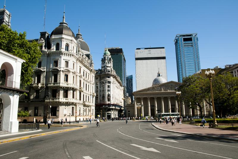 Rivadavia Bolivar aveny - Buenos Aires - Argentina arkivbilder