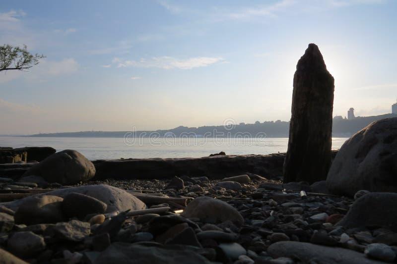 Rivage antique de port de la rivière de St Laurent photographie stock libre de droits