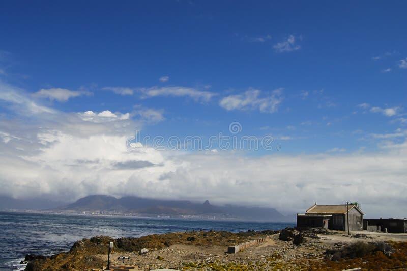 Rivage d'île de Robben - Cape Town - Afrique du Sud photo libre de droits