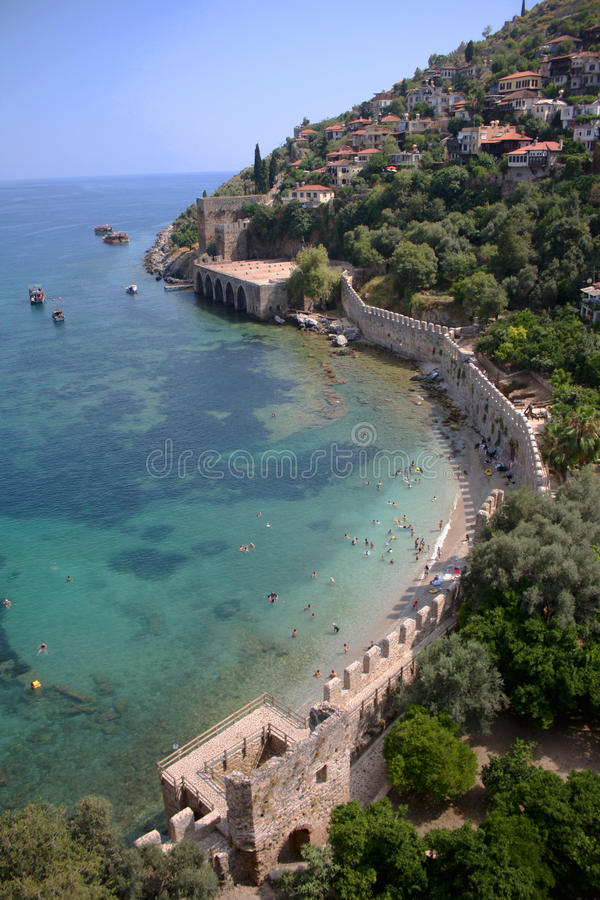 Rivage d'Alanya photos stock