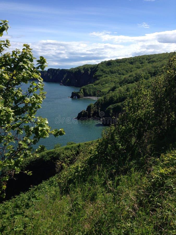 Rivage de baie d'Avacha photographie stock libre de droits