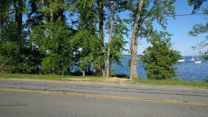 Rivage de Champlain de lac photographie stock libre de droits