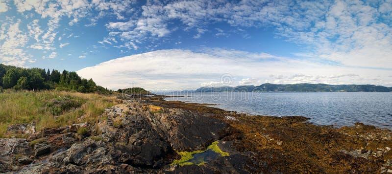 Rivage de fjord photos libres de droits