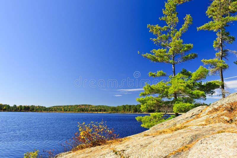 Rivage de lac à Ontario, Canada photo stock