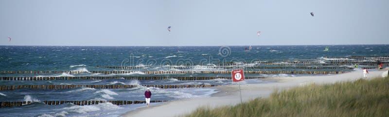 Rivage de Sandy à la mer baltique photo stock