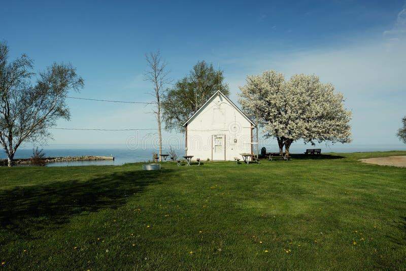 Rivage du lac Huron, Michigan, Etats-Unis photo libre de droits