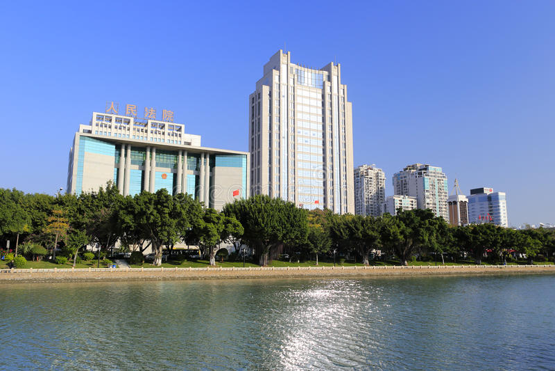 Rivage du nord de lac de yuandang images stock
