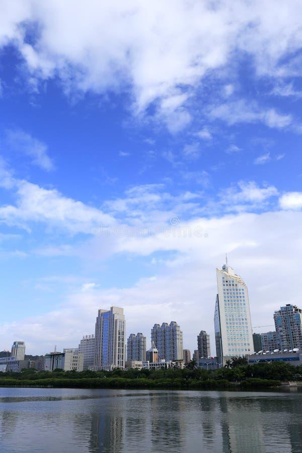 Rivage du nord de lac de yuandang images libres de droits