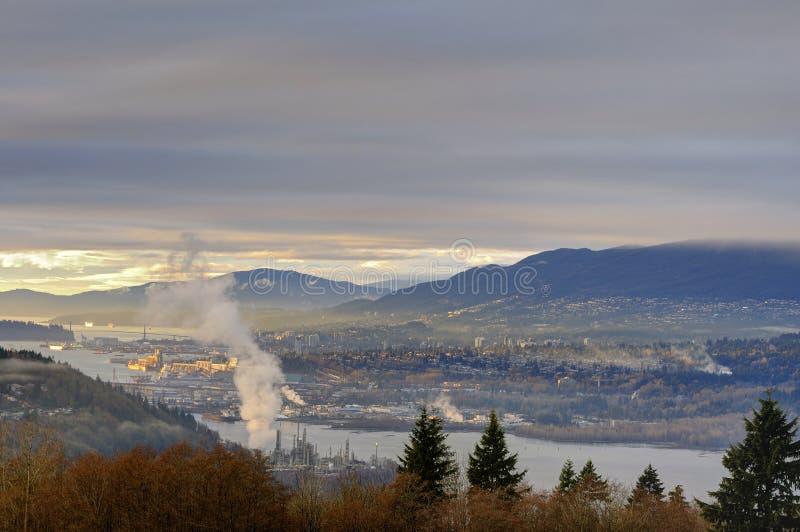 Rivage du nord de Vancouver photo libre de droits
