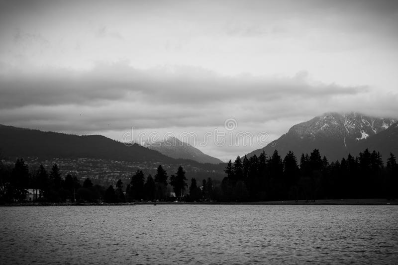 Rivage du nord, Vancouver image stock